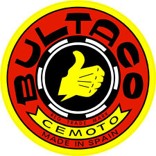"#243 (2) 4"" Bultaco motorcycle tank decals stickers vinyl vintage laminated"