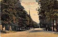 Shelburne Nova Scotia Canada Water Street Looking South Antique Postcard J54991