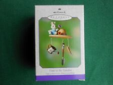 HALLMARK 2000 SPRING Time in the Garden SPRING ORNAMENT CAST METAL NIB+pt