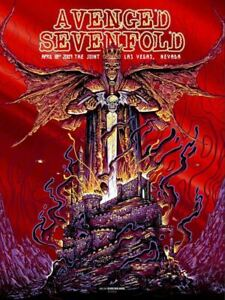 Avenged Sevenfold The Joint 4/18/09 Concert Poster Red Foil Screen Print