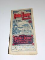 Vintage Boston and Bangor Steamship Company Pamphlet