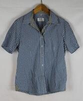 MILANO ITALY Damen Bluse, blau-weiß kariert, Größe 38