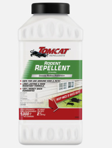 New!! Tomcat RODENT REPELLENT 2 lb. Granules Outdoors Keep Out Mice/Rats 0368106