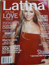 JANUARY/ FEBRUARY 2002 LATINA magazine SHAKIRA sexy cover + LOVE issue