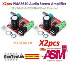 2pcs 12V Mini Hi-Fi PAM8610 Audio Stereo Amplifier 2X10W Dual Channel D Class