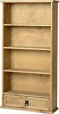 Mexican Pine CORONA 4 Shelf 1 Drawer DVD Rack Unit * Next Day Delivery