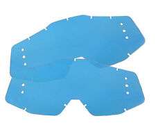 100% Roll Off Lens 2 Pack Blue Rip N Roll Goggle Accessory Replacement Motocross