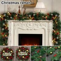 Guirlande de cheminée de sapin Noël décorée décorations de Noël de 9ft LED