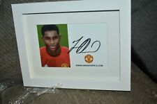 More details for marcus rashford signed framed club photo manchester untied