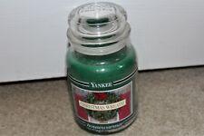 Brand New Yankee Candle 22 oz Balsam Christmas Wreath Black Band HOUSEWARMER