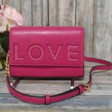 Michael Kors Ruby Medium Love Clutch Crossbody Ultra Pink 30h7groc20