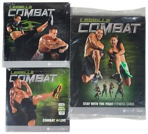 New LES MILLS COMBAT 6-Disc DVD SET w/ Fitness Guide SEALED Exercise Workout
