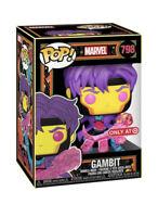 Funko Pop! Gambit Marvel X-Men Blacklight Target Exclusive #798 IN HAND NEW