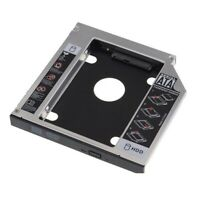 "2.5"" Universal 12.7mm SATA CD/DVD-ROM Optical Bay 2nd HDD Hard Drive Caddy Tray"