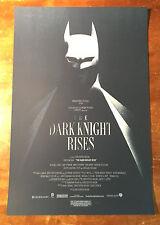 Mondo  - Olly Moss - Dark Knight Rises - Screen Printed Movie poster Art Print