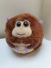 "Vintage TY Cute Baby Monkey Ball Soft Plush Toy Cuddling Brown 5"" Tall"
