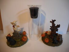 YANKEE CANDLE GHOST HALLOWEEN CANDLE HOLDERS