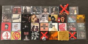 CD - rock (Mastodon-Slipknot), jazz, rap (Eminem, Salmo, Sfera Ebbasta etc.)