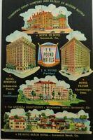 General Oglethorpe Hotel Wilmington Island Savannah GA Linen Vintage Postcard