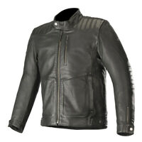 Alpinestars Crazy Eight Classic Style Motorcycle Motorbike Leather Jacket Black