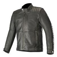 Alpinestars Crazy Eight Classic Style Motorcycle Motorbike Leather Jacket Black