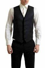 Dolce & Gabbana Hombre Lana Gris con Botones Camiseta US S It