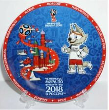2018 FIFA World Cup Russia Ceramic Plate Souvenir 7 87 Inch (20 Cm) Emblem
