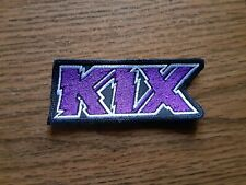 KIX,SEW ON PURPLE AND WHITE EMBROIDERED PATCH
