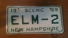 New Hampshire  License Plate Vintage 1969 SCENIC ELM-2
