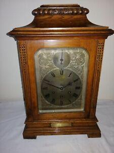 Gustav Becker, Westminster Chimes Bracket Clock, Working but Needs Restoration.
