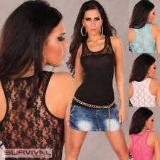 Regular Size Clubwear Solid Tank, Cami Tops & Blouses for Women