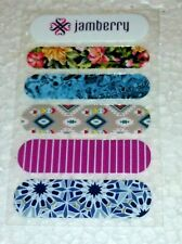 Jamberry Retired Nail Wraps Sample Sheet: 5 Unique Designs Patterns Flower