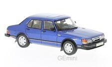 Saab 900 GLI bleu métallisé 1981 1/43 NEO