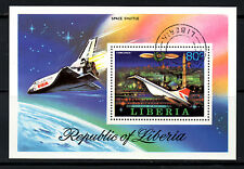 (Ref-5967) Liberia 1978 Progress in Aviation 80c M/Sheet SG.MS1333 Used (C.T.O.)