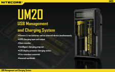Nitecore UM20 - LCD Intelligent Battery Charger-CHEAPEST PRICE! FAST SHIPPING!!