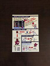 Nintendo Popeye Arcade control panel instruction card!