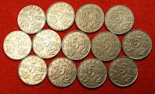 1922 thru 1936 CANADA NICKELS 12 DIFFERENT COINS GEORGE V SERIES  CAN01