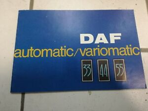 DAF Automatic Variomatik 55 44 33 Prospekt Broschüre Auto 1967 Werbung