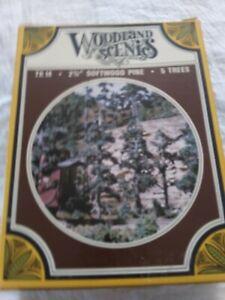 """Woodland Scenics HO Scale TK14 2 3/4"""" Softwood Pine 5 Trees Kit"""