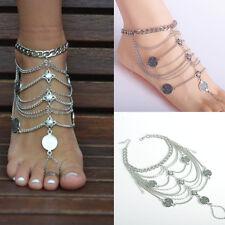 Foot Anklet Tassel Ankle Bracelet Chain Lady Retro Boho Beach Barefoot Sandal