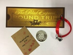 Large Believe Polar Express Ticket Jingle Bell Christmas XMas Santa wishing coin