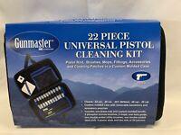 Gunmaster pistol cleaning kit 22 Piece Universal .22 .357 .380 .38 9mm .45 NEW
