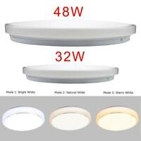32W 48W Round LED Ceiling Panel Down Lights Bulb Slim Lamp Fixture Home Light AE
