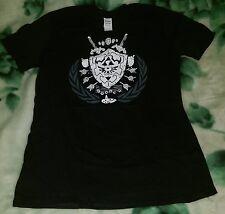Zelda Triforce Shield Design Black T-Shirt in Size M, Link, Nintendo