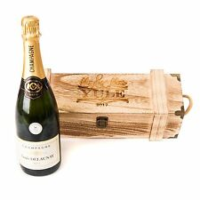 Personalised Engraved Wooden Vintage Chest Wine Gift Box Wedding Engagement