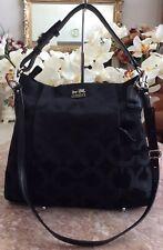 Coach Madison 21121 Black OP ART Sateen Isabelle Shoulder Satchel EUC! MSRP $298