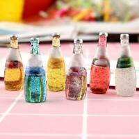 Multicolored Wine Bottles For Dollhouse Miniature Scale 1:12 S4V5