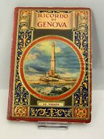 Vintage 1930's Italy Travel Photo Book Ricordo Di Genova 32 Views Liguria