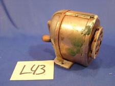 L43 VINTAGE BOSTON KS 8 HOLE PENCIL SHARPENER WITH WOODEN HANDLE