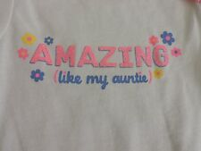 Amazing Like my Auntie New Aunt Gift Idea One Piece Baby Snap Tee Shirt 3M Girls